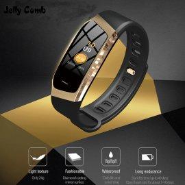 Chytré hodinky E18 pro Android iOS, monitor spánku, notifikace, BT 4.0, pohybový senzor, krokoměr, vodotěsné IP67, srdeční tep