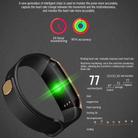Chytré hodinky E18 pre Android iOS, monitor spánku, notifikácia, BT 4.0, pohybový senzor, krokomer, vodotesné IP67, srdcový tep