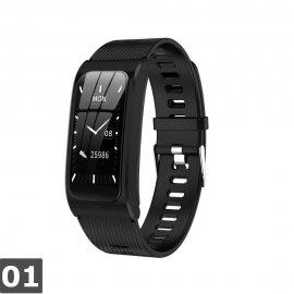 AK12 Dámske chytré hodinky pre iOS Android, vodotesné IP67, monitor spánku, notifikácia, BT, krokomer, srdcový tep