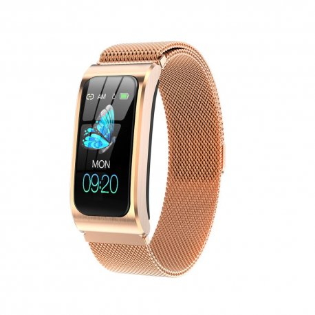 AK12 Dámské chytré hodinky pro iOS Android, vodotěsné IP67, monitor spánku, notifikace, BT, krokoměr, srdeční tep