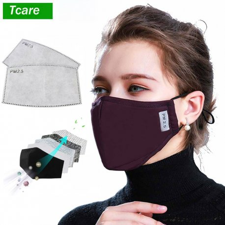 PM2.5 Respirator mask,2x activated carbon filter, 5 infections protection against infection, quality cotton / FREE SHIPPING!
