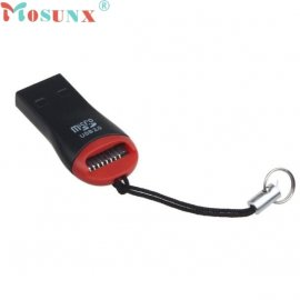 Čtečka Micro SD / M2 karet, USB 2.0 high speed, poutko