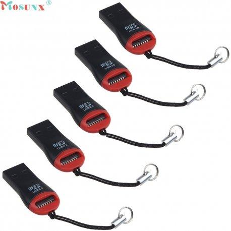 Micro SD / M2 card reader, USB 2.0 high speed, strap