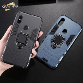KISSCASE Armor Phone Case For Xiaomi Redmi 6 6pro Note 4X 5 6pro 7 8 pro Case For Xiaomi Mi 8 9T A1 A2 Max 3 Pocophone F1
