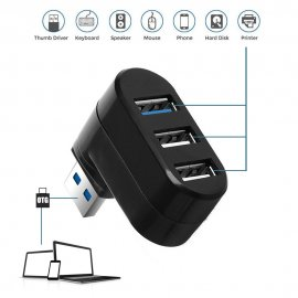 3 Ports USB HUB 2.0 + 3.0 USB Splitter High Speed Rotatable Adapter Mini Hub USB Charging Splitter For Laptop Computer