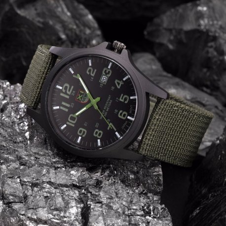 Military analog watch XI, analog, stainless steel /FREE shipping!