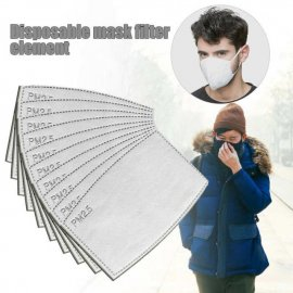 PM2.5 filters for masks and drapes, 5 layers of protection, 10-200PCS, even for children / FREE shipping!