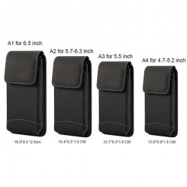 Universal case for mobile phones, belt attachment, carabiner, PU leather / FREE shipping!