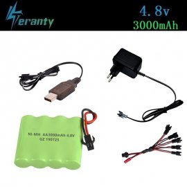 3000mah 4.8V Nimh Battery for RC Cars Tanks Remote Control Boats / FREE Shipping!
