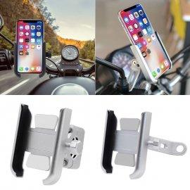 ALU držák telefonu na motorku, uchycení na zrcátko, rotace 360 stupňů /Poštovné ZDARMA!