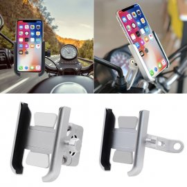 ALU držiak telefónu na motorku, uchytenie na zrkadlo, rotácie 360 stupňov / Poštovné ZADARMO!
