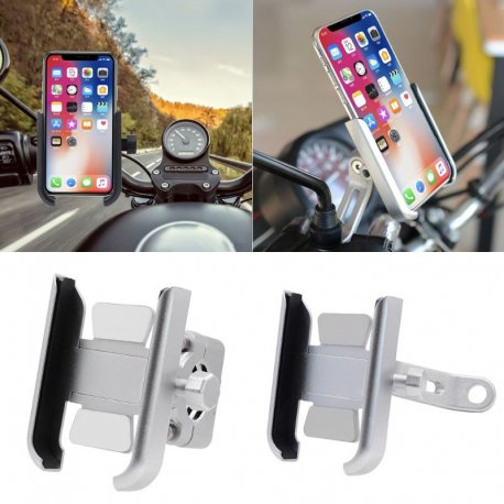 ALU motorcycle phone holder, mirror mount, 360 degree rotation / FREE shipping!