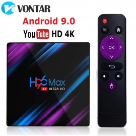 Smart TV Box H96 MAX RK3318 Android 9, 4GB 32GB 64GB 4K Youtube Media player /Poštovné ZDARMA!