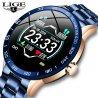 Chytré hodinky Lige, vodotesné IP67, oceľový remienok, srdcový tep, monitor spánku, notifikácia atď. / Poštovné ZADARMO!