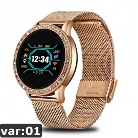 Women's smart watch LIGE, waterproof IP67, steel strap, heartbeat, sleep monitor, notifications, etc. /FREE shipping!