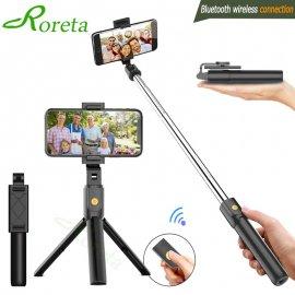 Teleskopická Selfie tyč 3v1, BT, trojnožka, diaľkový ovládač, pre iPhone IOS Android / Poštovné ZADARMO!