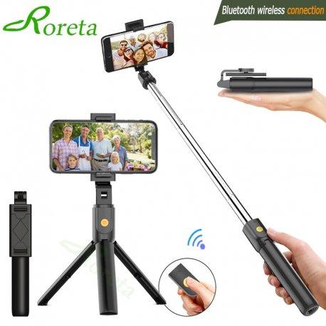 Selfie tyč 3v1, Bluetooth, trojnožka, teleskopická, nastaviteľná, diaľkový ovládač, univerzálny iphone/Android/Huawei
