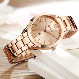 Curren luxusné dámske hodinky, quartz, tvrdené sklo / Poštovné ZADARMO!
