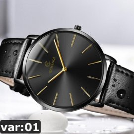 Ultra thin men's watch, quartz, analog / FREE shipping!