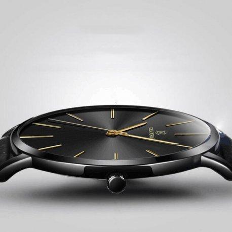 Ultra thin men's watch, quartz, analog / FREE shipping!