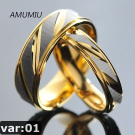 "Rings for couples, wedding rings ""AMUMIU"", stainless steel"