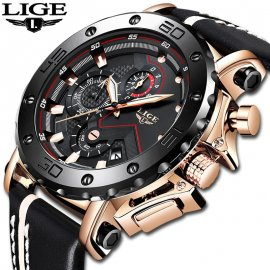 Luxury men's watch LIGE, waterproof 30M / FREE Shipping!