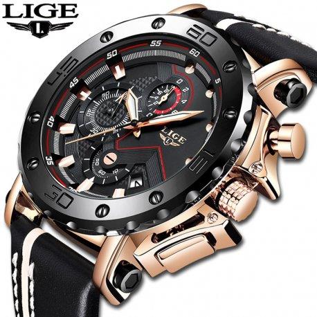 Luxury men's watch LIGE, waterproof 30M / FREE Shipping!