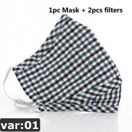 PM2.5 Maska respirátor + 2xfiltr s aktivním uhlím, 5 vstev ochrana proti infekcím, kvalitní bavlna /Poštovné ZDARMA!