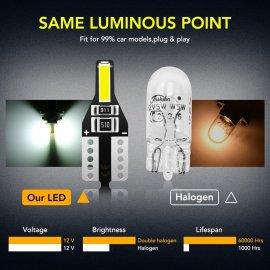 10ks LED žárovek T10 W5W 12V, osvětlení interiéru /Poštovné ZDARMA!