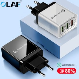 OLAF QC3.0 Rychlo nabíječka 3xUSB 5V 4.8A EU AC univerzální pro mobilní telefony, Android a další zařízení