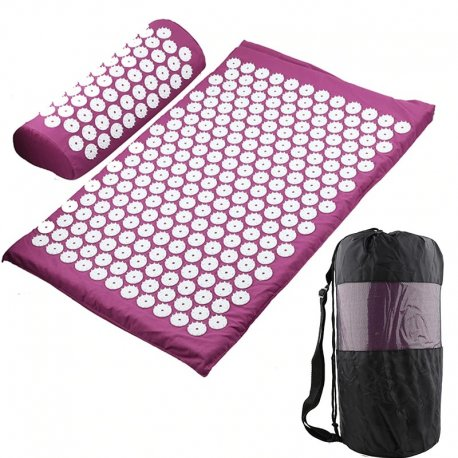Massage Mat for Yoga, Fitness + Pillow + Bag / FREE Shipping!