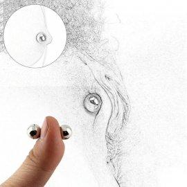 Magnetické guľôčky pre stimuláciu bradaviek alebo klitorisu, D1cm / Poštovné ZADARMO!