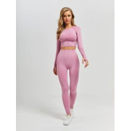 2/3/5 PCS Seamless Women Yoga Set Workout Sportswear Gym Clothing Fitness Long Sleeve Crop Top High Waist Leggings Sports Suits