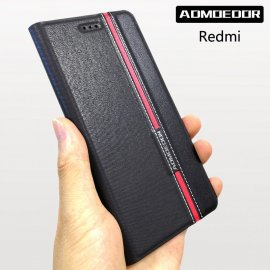 Case for Xiaomi Redmi Note 3s 4 4x 4a 5 plus 5a 6 9c 8 9 7, flip, stand, wallet, PU leather