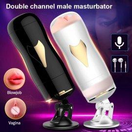 Fox S3 Masturbator s prísavkou, vagína/oral, nabíjací, výstup na slúchadlá, umelá vagína / Poštovné ZADARMO!