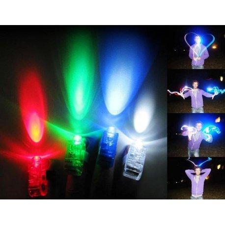 4 x LED Laser světýlka na prsty (včetně baterií) /Poštovné ZDARMA!