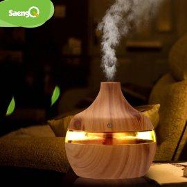 LED Aróma difuzér Zvlhčovač vzduchu 300ml Nočné svetlo Ultrazvukové Aromaterapia / Poštovné ZADARMO!