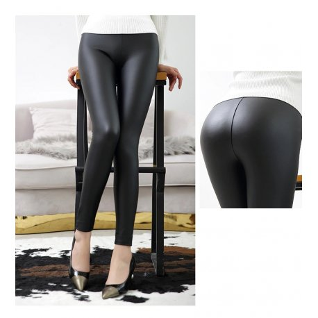 Sexy leather leggings with a high waist, fitness / FREE Shipping!