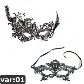 Sexy Lingerie Female Hollow Out Black Lace Mask /FREE shipping!