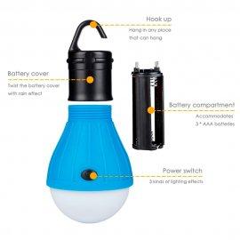 Kemping závěsná LED lampička, outdoor survival bushcraft /poštovné ZDARMA!