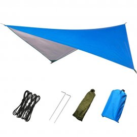 Hammock Waterproof Rain Fly Tent Tarp Lightweight Portable Waterproof Ripstop Easily Fold Sun Shelter UV Protection