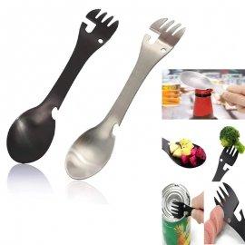 Multifunkční příbor 3v1 nerez ocel, lžička, nůž, vidlička, outdoor camping survival /Poštovné ZDARMA'