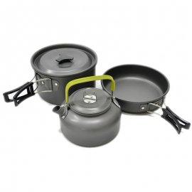 Ultra ľahká sada riadu pre kemping, outdoor, survival, zliatina Aluminia / Poštovné ZADARMO!