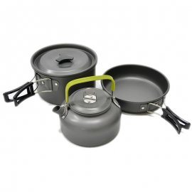 Ultra light set of dishes for camping, outdoor, survival, aluminum alloy / FREE shipping!