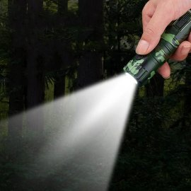 Outdoor Camping Wind and Waterproof Metal JET Turbo Lighter + LED flashlight / FREE Shipping!