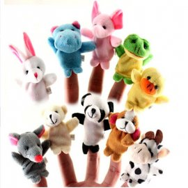 Mini finger puppet theater (10pcs in a package) / FREE shipping!