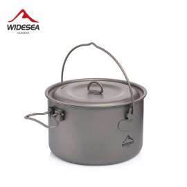Titanium pot, kettle for hanging over the fireplace 1300ml / FREE Shipping!