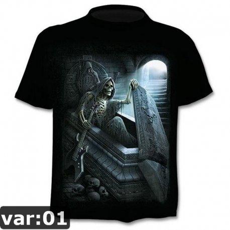 Men's 3D skull t-shirt, short sleeve / FREE Shipping!