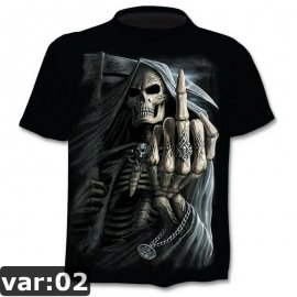 Pánske 3D tričko smrtka, krátky rukáv / Poštovné ZADARMO!
