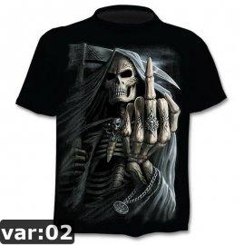 Pánské 3D tričko smrtka, krátký rukáv /Poštovné ZDARMA!
